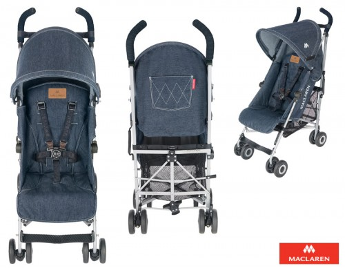 Silla de paseo quest denim pequelia for Cochecitos de bebe maclaren