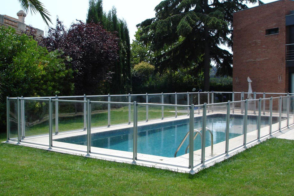 Valla de piscina flash transparente pequelia - Valla para piscina ...